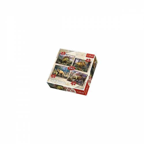 Trefl Puzzle »4in1 Puzzle 35/48/54/70 Teile - Die Dinosaurier«, Puzzleteile