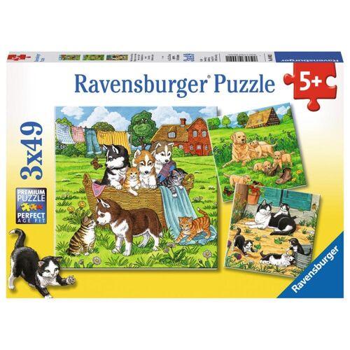 Ravensburger Puzzle »Süße Katzen Und Hunde«, 147 Puzzleteile