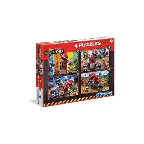 Clementoni® Puzzle »Dinotrux Puzzle von Clementoni 360-teilig - 4 Puzzle«, 360 Puzzleteile