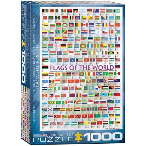 empireposter Puzzle »Flaggen der Welt - 1000 Teile Puzzle Format 68x48 cm.«, 1000 Puzzleteile
