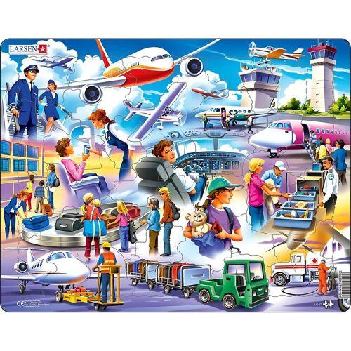 Larsen Puzzle »Rahmen-Puzzle, 42 Teile, 36x28 cm, Flughafen«, Puzzleteile