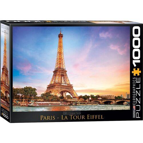 empireposter Puzzle »Paris mit Eiffelturm - 1000 Teile Puzzle Format 68x48 cm«, 1000 Puzzleteile