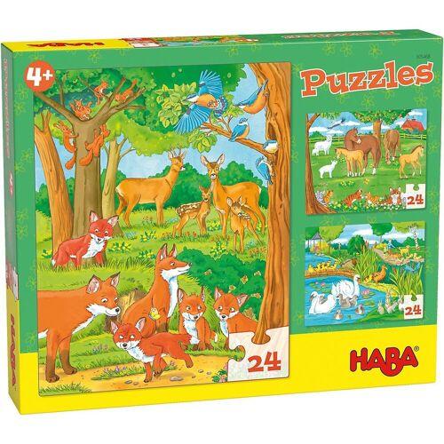 Haba Puzzle »305468 Puzzles Tierfamilien«, Puzzleteile
