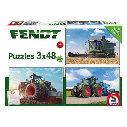 Schmidt Spiele Puzzle »Traktoren Fendt 1050 724 Vario 6275L 3x48 Teile«, 144 Puzzleteile