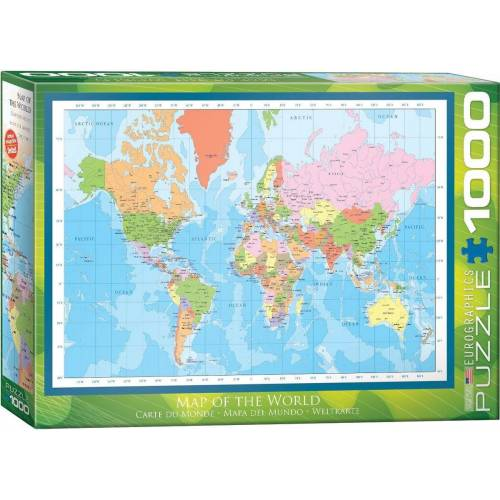 empireposter Puzzle »Moderne Weltkarte - Modern Map of the World - 1000 Teile Puzzle Format 68x48 cm«, 1000 Puzzleteile