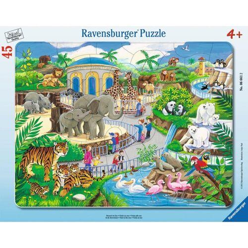 Ravensburger Rahmenpuzzle »Besuch Im Zoo - Rahmenpuzzle«, 45 Puzzleteile