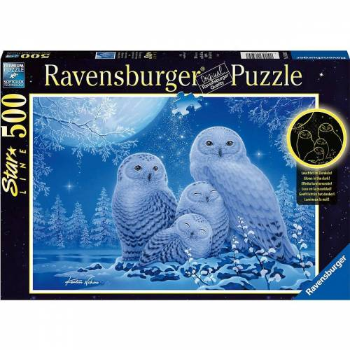 Ravensburger Puzzle »Puzzle Eulen im Mondschein, 500 Teile«, Puzzleteile
