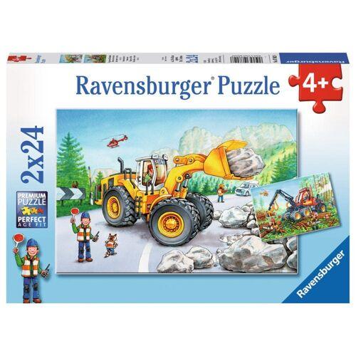 Ravensburger Puzzle »Bagger Und Waldtraktor«, 48 Puzzleteile