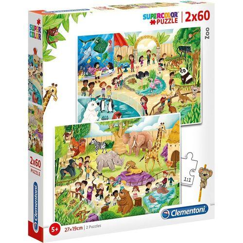 Clementoni® Puzzle »Puzzle 2x60 Teile - Zoo«, Puzzleteile