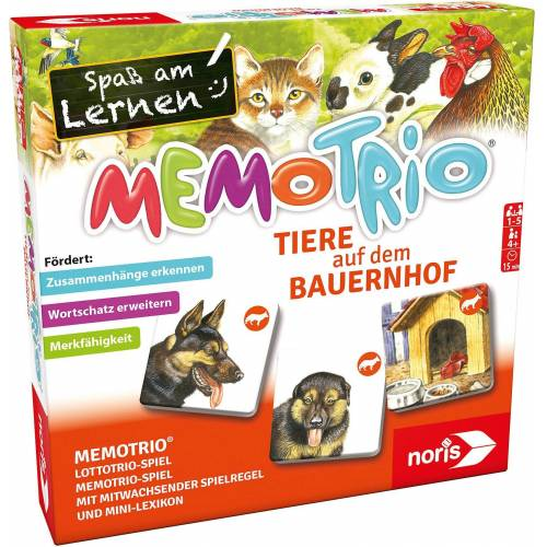 Noris Spiel, »MemoTrio Bauernhoftiere«