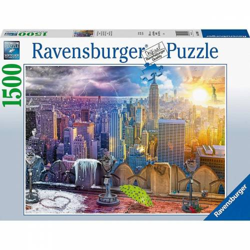 Ravensburger Puzzle »Puzzle New York im Winter und Sommer, 99 Teile«, Puzzleteile