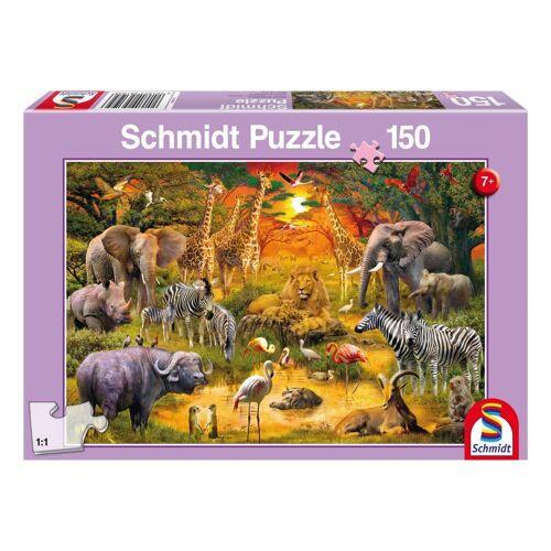Schmidt Spiele Puzzle »Safari Tiere in Afrika«, 150 Puzzleteile