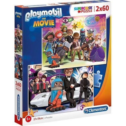 Clementoni® Puzzle »Puzzle 2 x 60 Teile Supercolor Playmobil the Movie«, Puzzleteile