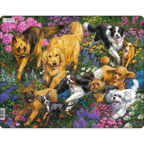 Larsen Puzzle »Rahmen-Puzzle, 32 Teile, 36x28 cm, Hunde«, Puzzleteile