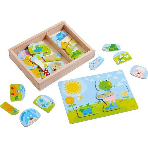 Haba Steckpuzzle »303186 Holzpuzzle Lustiger Tiermix«, Puzzleteile