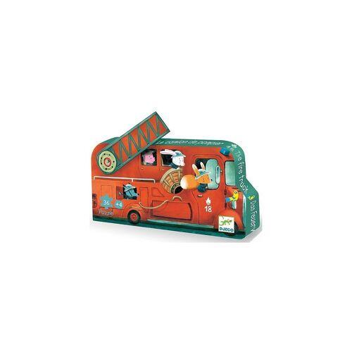 DJECO Puzzle »Puzzle Das Feuerwehrauto, 16 Teile«, Puzzleteile