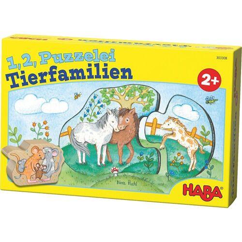 Haba Puzzle »303308 1, 2, Puzzelei - Tierfamilien«, Puzzleteile