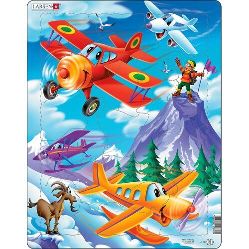 Larsen Puzzle »Rahmen-Puzzle, 20 Teile, 36x28 cm, Flugzeuge«, Puzzleteile