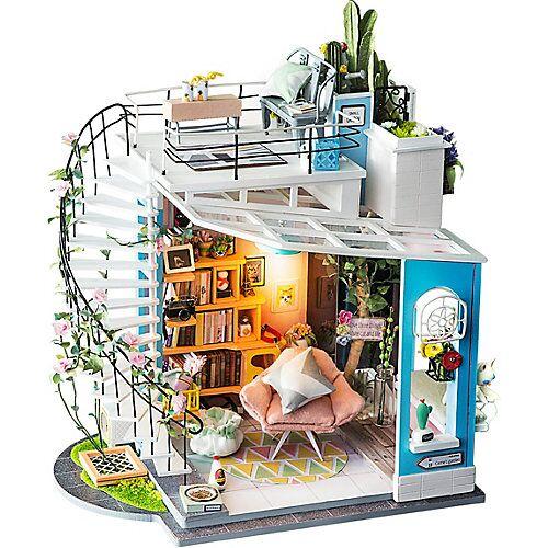 Dora's Loft - 3D-Holzpuzzle Miniaturhaus-Bastelset, 171 Teile bunt