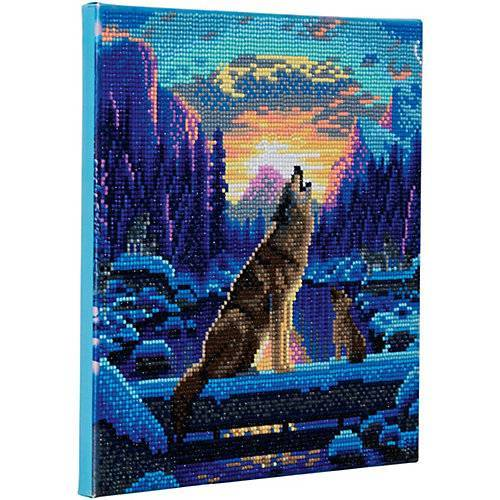 CRAFT Buddy Crystal Art Howling Wolves