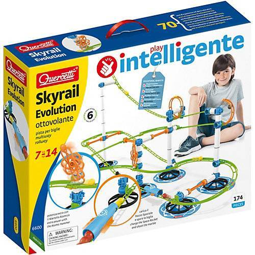 Quercetti Skyrail Evolution Kugelbahn 6 m, 174 Teile