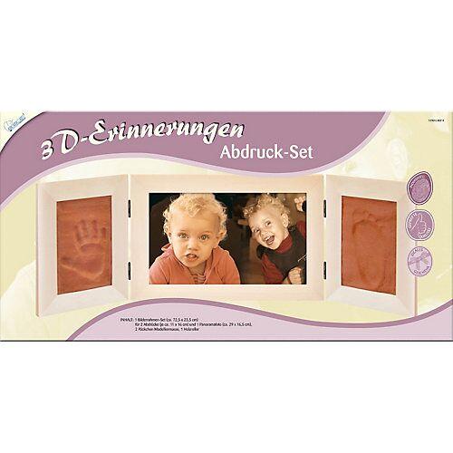 MAMMUT Spiel und Geschenk 3D-Erinnerungen - Gipsabdruck-Set Panorama-Bilderrahmen