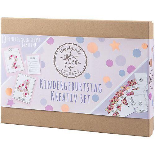 Lulubug Handmade Kindergeburtstag Einladungskarten, Kreativ-Set, rosa, 10 Stück