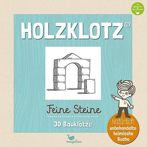Magellan Verlag Holzklotz - Feine Steine: 30 Bauklötze