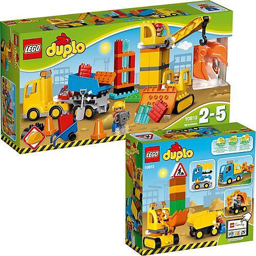 LEGO Bundle LEGO DUPLO: 10813 Große Baustelle + 10812 Bagger & Lastwagen