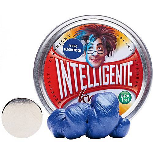 Intelligente Knete: Ferromagnetisch - Blau inkl. Super-Magnet blau