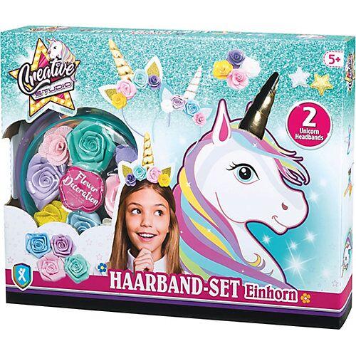 Creative Studio: Haarband-Set Einhorn bunt