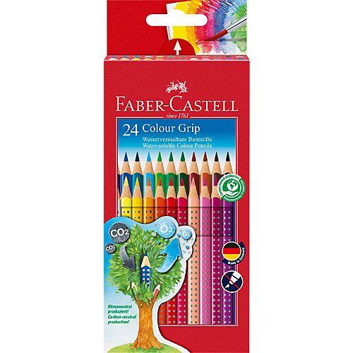 Faber-Castell COLOUR GRIP Buntstifte wasservermalbar, 24 Farben