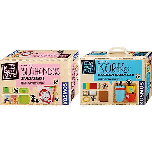 Kosmos Bastelbox-Set: Kork Sachen-Sammler + Blühendes Papier