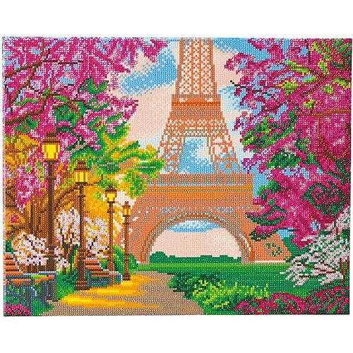 CRAFT Buddy Bastelsets Paris im Herbst gerahmter Kristallkunst braun/pink  Kinder