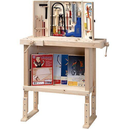 Pebaro Kinderwerkbank aus Holz, höhenverstellbar