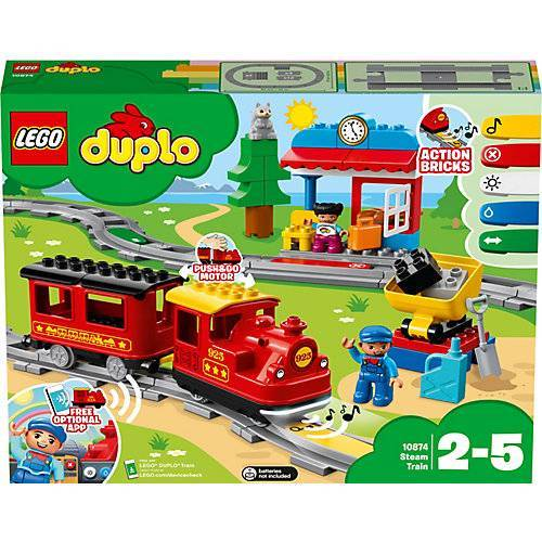 LEGO 10874 Dampfeisenbahn + Gratis Batterien! bunt