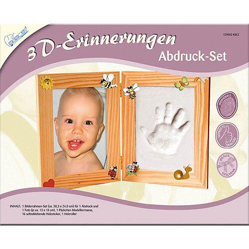MAMMUT Spiel und Geschenk 3D Erinnerungen - Gipsabdruck-Set Bilderrahmen, 2-tlg.