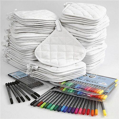 Topflappen mit Textilmalstiften