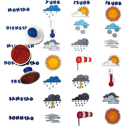 Eduplay Wetter-Stempel, 10 Stück