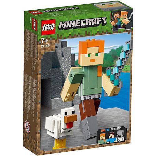 LEGO 21149 Minecraft: Minecraft™-BigFig Alex mit Huhn