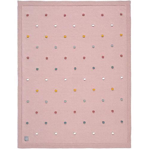 Lässig Kuscheldecke mit Pünktchen, rosa