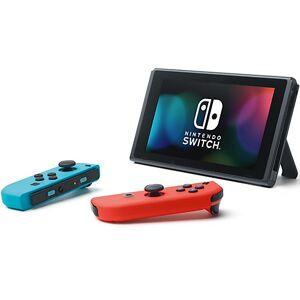 Nintendo Switch Konsole Neon-Rot/Neon-Blau (neue Edition) schwarz-kombi