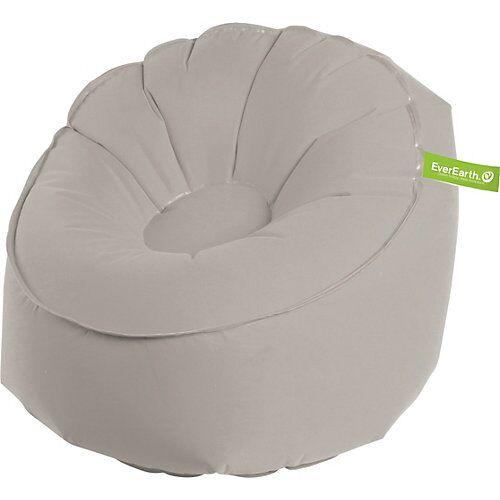 EverEarth Sitzsack, aufblasbar, grau