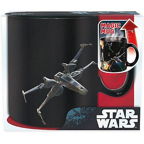 Starwars Tasse Star Wars Space Battle Thermoeffekt 460 ml schwarz/weiß