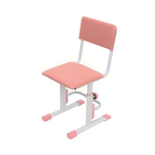 Polini-kids Kinderstuhl, höhenverstellbar, weiß-rosa