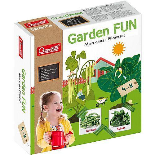 Quercetti Garden FUN Pflanzset Bohnen/Spinat bunt