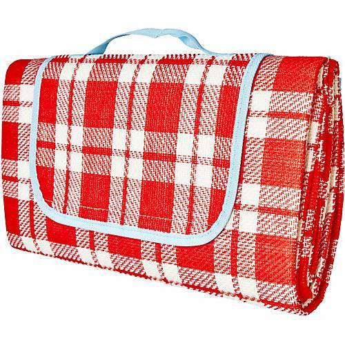 rice faltbare Picknickdecke, 150 x 150 cm rot