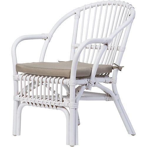 CHILDHOME Kinderstuhl inkl. Sitzkissen, weiß