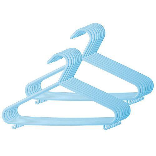 bieco Kinderkleiderbügel 16x Eisblau Kleiderbügel Baby Kinder Kleiderbügel Kunststoff