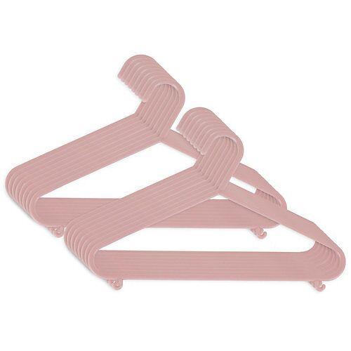 bieco Kinderkleiderbügel 16x Altrosa Kleiderbügel Baby Kinder Kleiderbügel Kunststoff